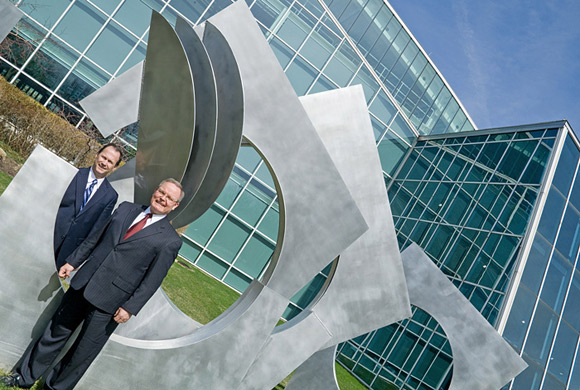Donald W. Majcher and Mike Heil of the Ohio Aerospace Institute. Photos | Bob Perkoski