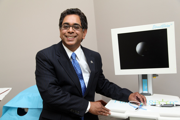 Dr. Errol O. Singh, Founder and CEO of Percuvision in Westerville. Photos Ben French