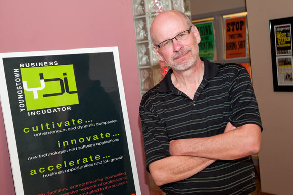 Jim Cossler, Chief Evangelist of the Youngstown Business Incubator. Photos Bob Perkoski