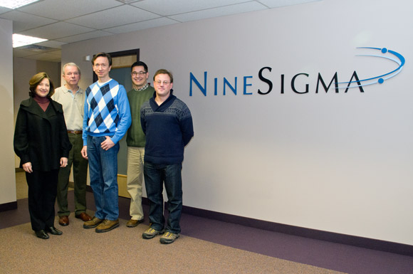 Vice President, Strategic Programs Denys Resnick, Frank Evan, Andy Zynga CEO NineSigma International, Ryan Musarra and Chief Sales Officer Paul Stupay.